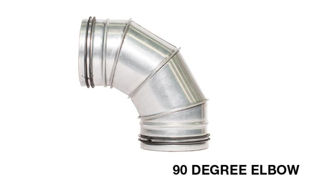 Sirius 90 Degree Elbow For Connecting Kitchen Range Hood Ducting