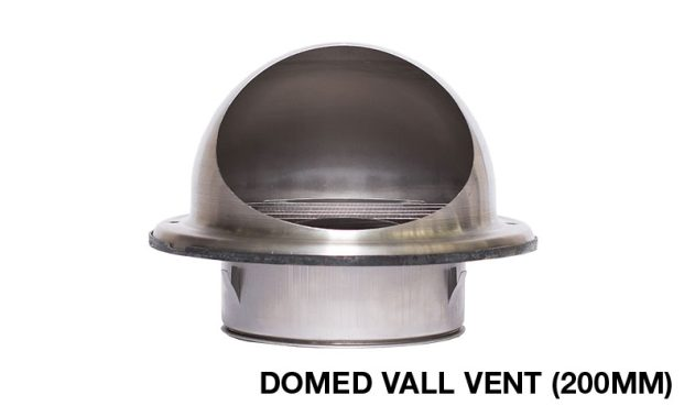 Sirius Domed Wall Vent For Range Hood Ducting