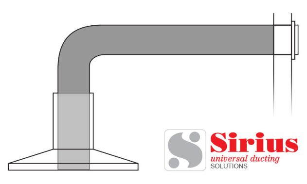Sirius Easy Wall Ducting Kit For Kitchen Rangehood in 150mm & 200mm Size