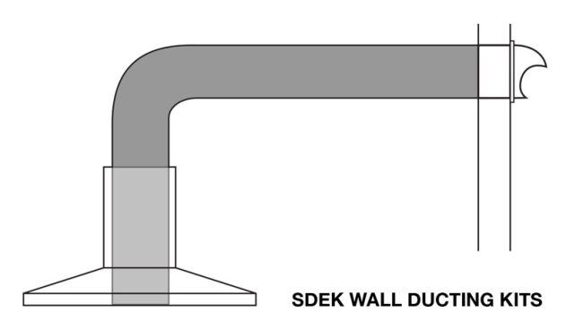 SDEK - Cheap & Affordable Kitchen Range Hood Ducting Kit For Extraction Through Wall