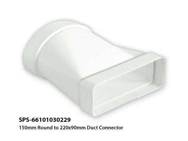 SPS-66101030229 Round to 220x90mm Duct Connector